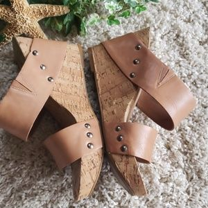 Lucky Brand Shoes - Lucky brand cork wedge Sandler's size 9M